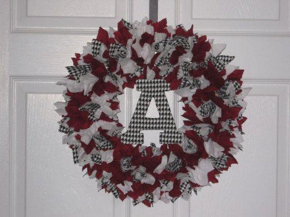 Alabama Crimson Tide Fabric Wreath