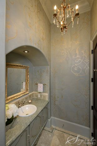 Gray, gold, pattern. What's not to love? Artistry by Segreto Finishes.