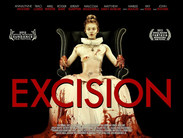AnnaLynne McCord is almost unrecognizable in this movie poster for Excision. This bloody horror piece uses gross out humour to keep the viewer uncomfortable. This is a dark tale that should be seen by fans of horror in film.