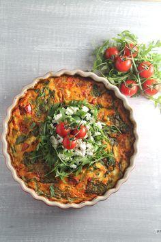Frittata met geroosterde tomaatjes en feta