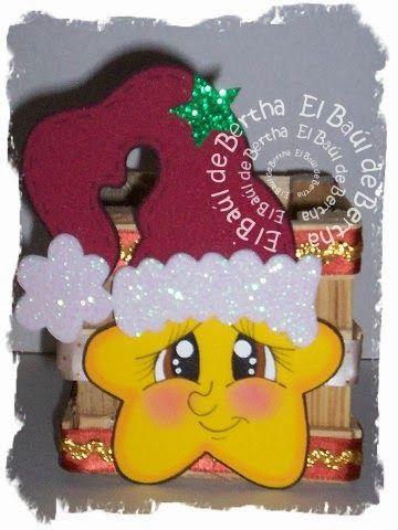 LA ESTRELLA DE BELEN          Huacalito de maedra decorado con liston cafe   y espiguilla dorada   Estrella elaborada en foami    No Incluy...
