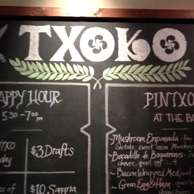 Txoko, just down the street from the old Hotel Espana (Basque great-grandmother was a chef there).