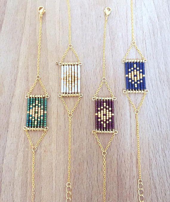 Diamante geométrica de pulsera oro al oro extremo en pequeña