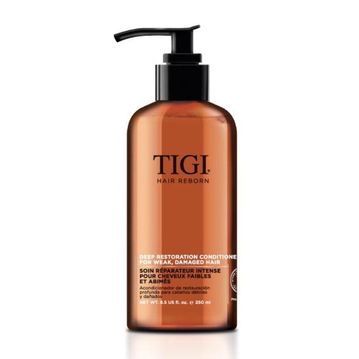 Skin Dimensions Online - TIGI Hair Reborn Deep Restoration Conditioner, $32.00 (http://www.skindimensionsonline.com/products/tigi-hair-reborn-deep-restoration-conditioner.html)