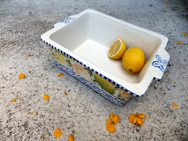 Fresh lemon & orange designed ice cream container.