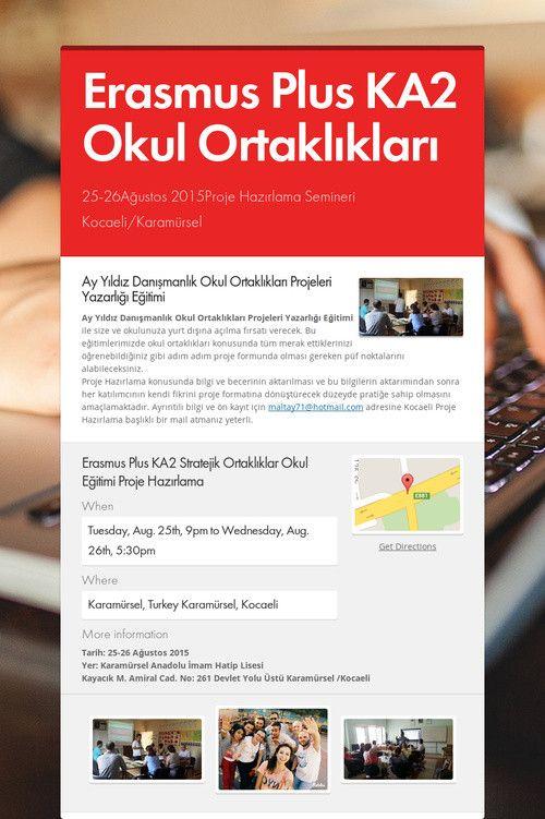 Help spread the word about Erasmus Plus KA2 Okul Ortaklıkları. Please share! :)