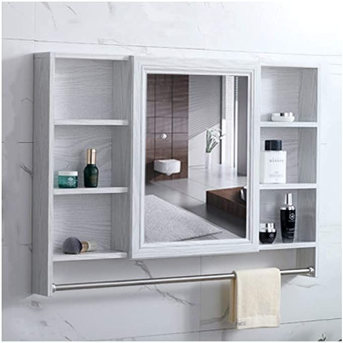 Rkrzlb Bathroom Mirror Cabinet Wall Mounted Aluminum Bathroom Cabinet With Shelves With Mirr In 2020 Bathroom Mirror Cabinet Mirror Cabinets Bathroom Cabinet Colors