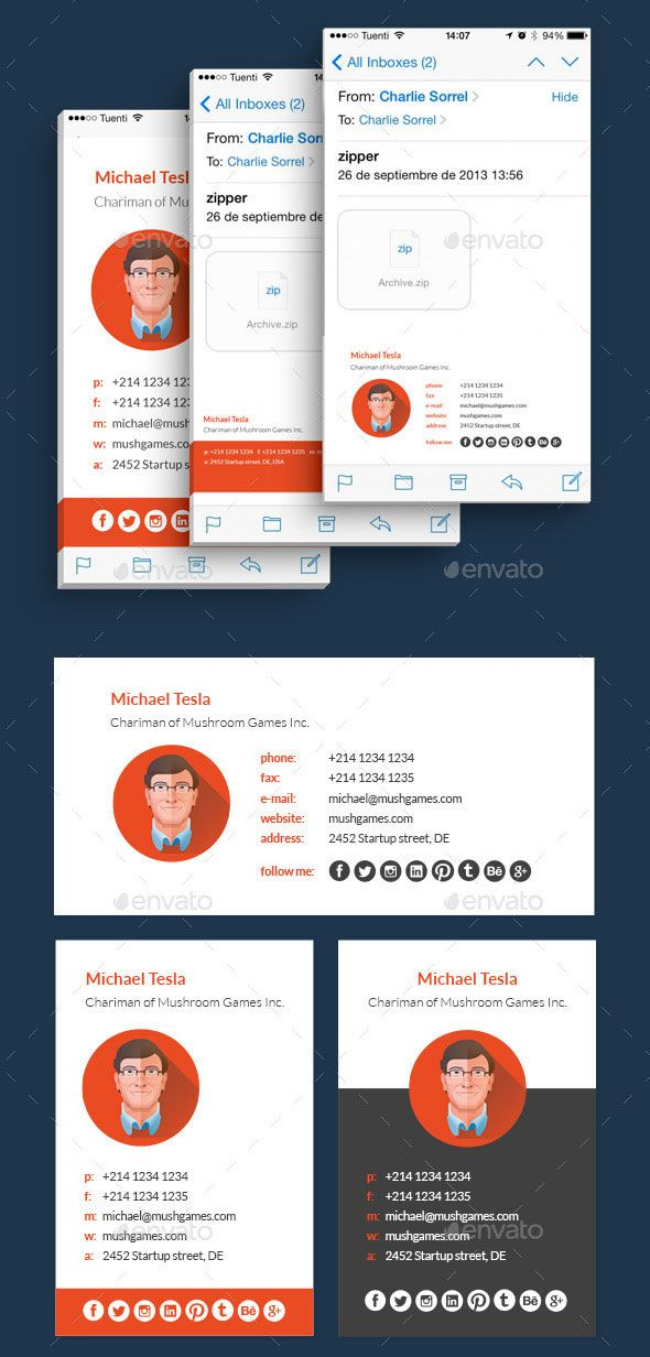 40+ Best Email Signature Templates – PSD & HTML Download