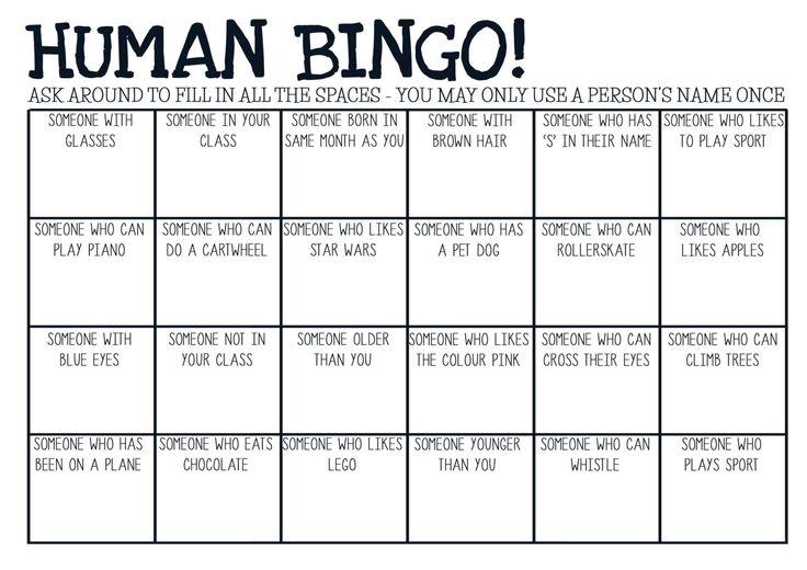 Printable pdf Human Bingo game. Ice-breaker by DesignedByCaseyAnn