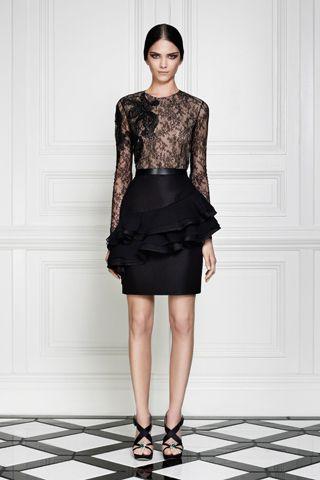 Black lace with ruffled skirt   Jason Wu   Resort 2013
