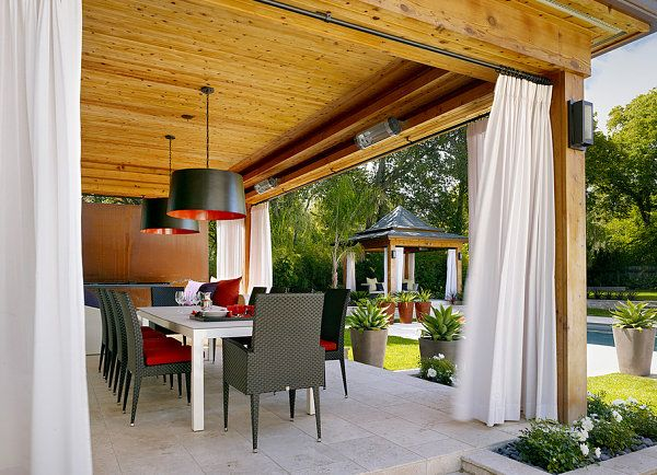 Outdoor lounge white curtains Turn Your Patio Into A Stylish Outdoor Lounge
