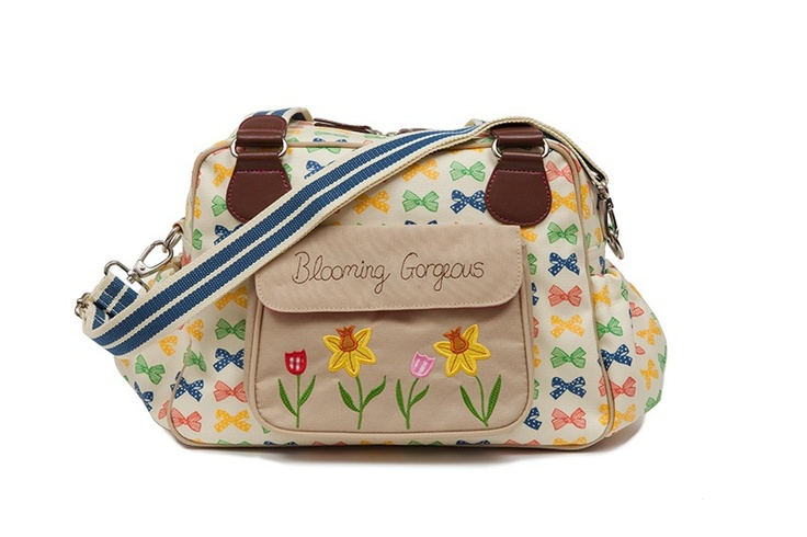 Wickeltasche, Pink Lining Multi Coloured Bows