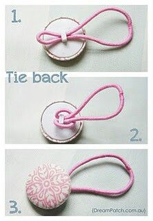 Simple button hair ties