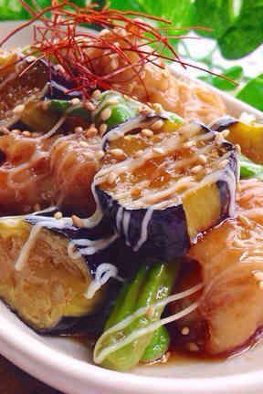 夏野菜&豚バラ肉deポーク南蛮♡の画像