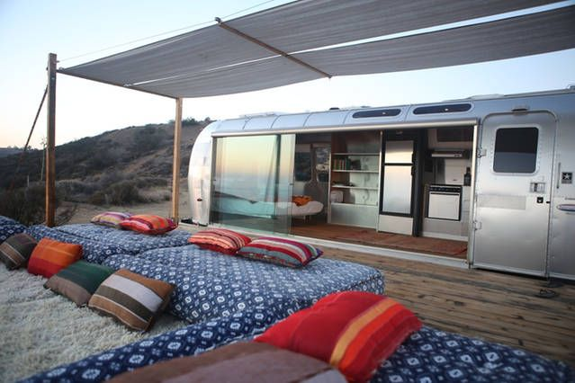Great conversion idea for something more permanent on some property (Malibu Dream Airstream)