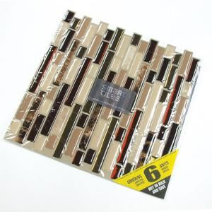 Smart Tiles Bellagio Keystone 10 06 In W X 10 00 In H Peel And Stick Decorative Mosaic Wall Tile Backsplash 6 Pack