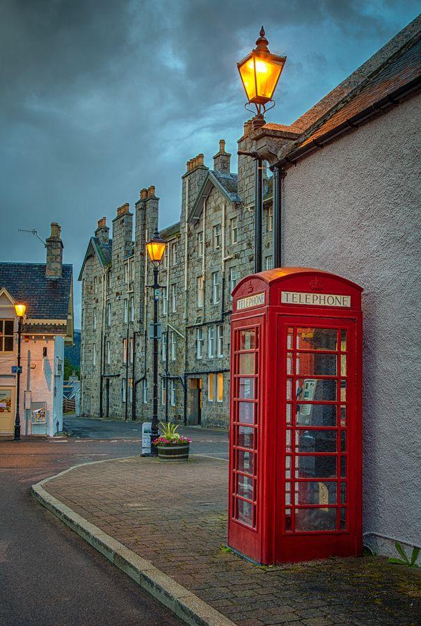 Phone Box in Braemar, Scotland