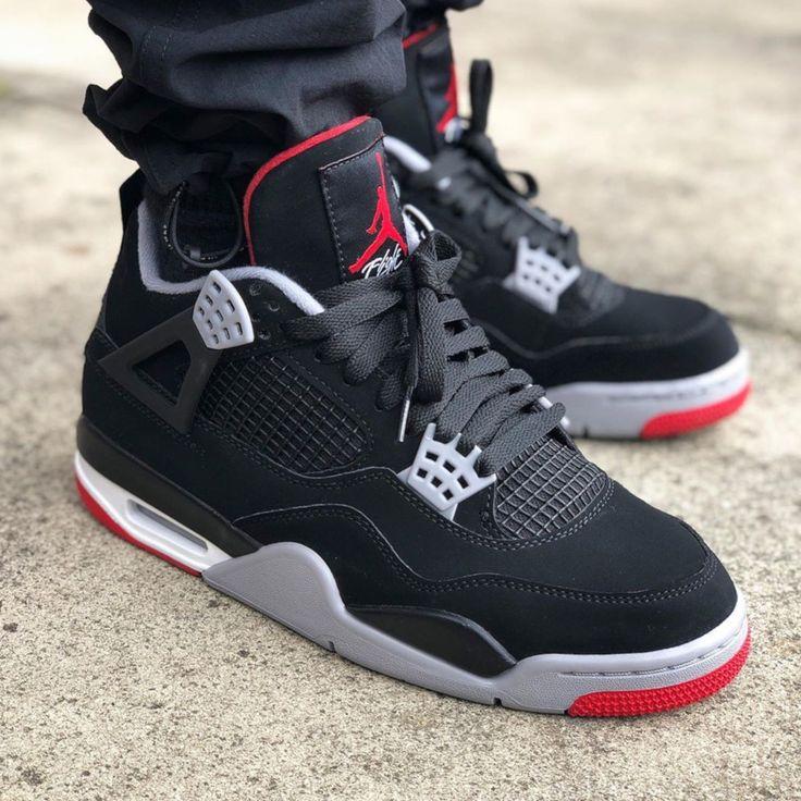 Air Jordan 4 Retro Bred 2019 | All nike shoes, Jordan shoes retro ...