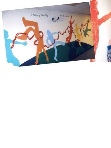 SchoolArts Ribbon of Friendship school mural
