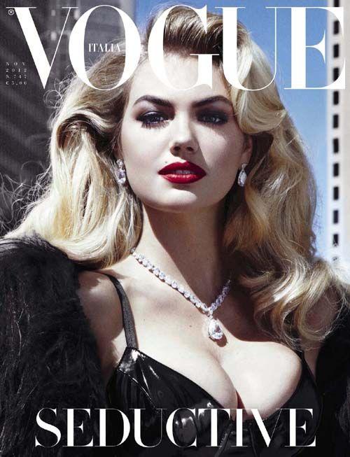 Kate Upton models the modern bombshell hair look for Vogue Italia | The Bombshell Hair Gallery