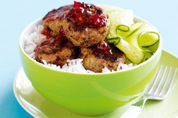 Asian-spiced pork rissoles Recipe - Taste.com.au Mobile