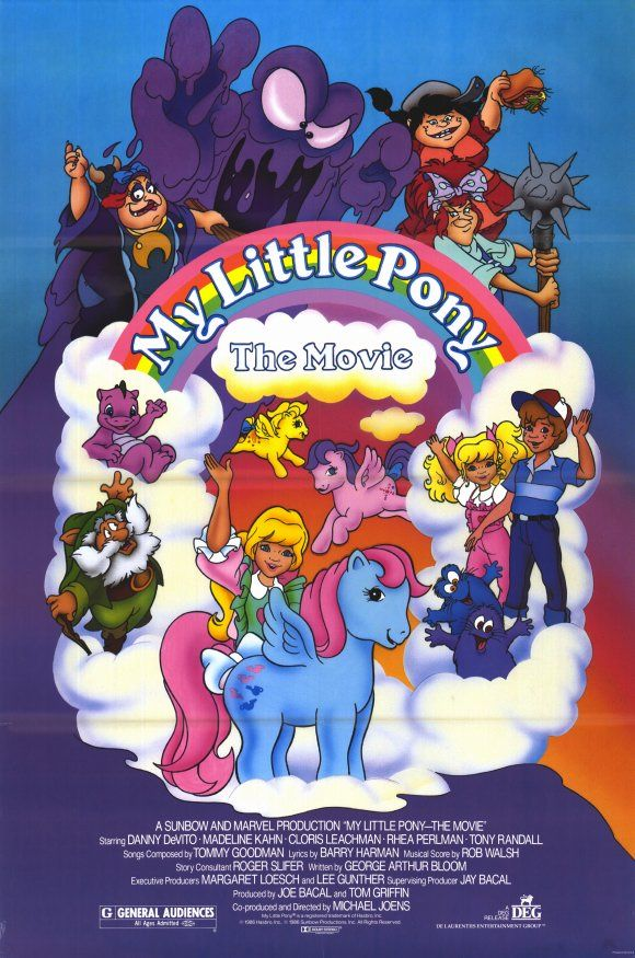 The ORIGINAL My Little Pony, voiced by Danny DeVito, Madeline Kahn, Cloris Leachman, Rhea Perlman, and Tony Randall. I can't believe this is 30 years old!!!