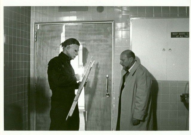 halloween II behind the scenes - Michael Myers and Donald Pleasence