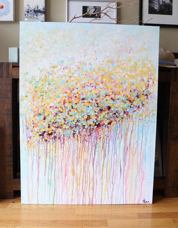 abstract painting acrylic painting contemporary por artbyoak1