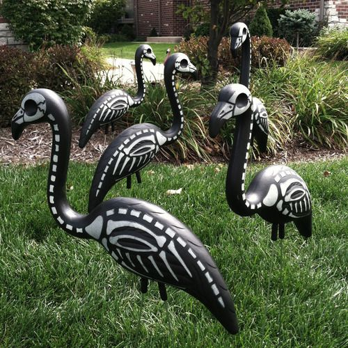 halloween skeleton lawn decorations