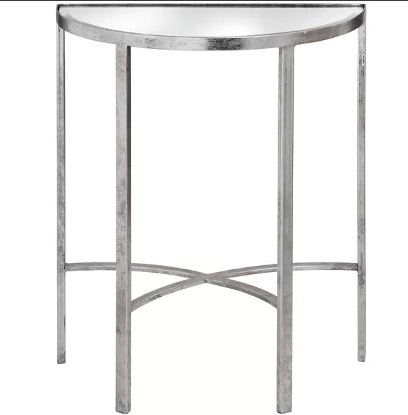 Hall Console Table Vintage Small Half Round Side Tables Mirrored Top Furniture