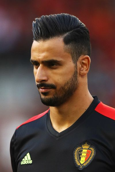 Nacer Chadli of Belgium stands for the national anthem prior to the International Friendly match between Belgium and Czech Republic at Stade Roi Baudouis on June 5, 2017 in Brussels, Belgium.