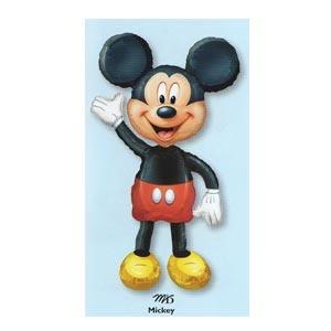 "Mickey Airwalker Foil Balloon (52"" High) empty.    Watch Mickey ""walk"" around the room!  Requires helium."