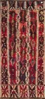 """Mut kilim, all wool, 4'4""""x9'2"""", approx. 50 years old"""