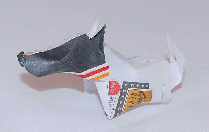 Origami Dog by Juliana Lima