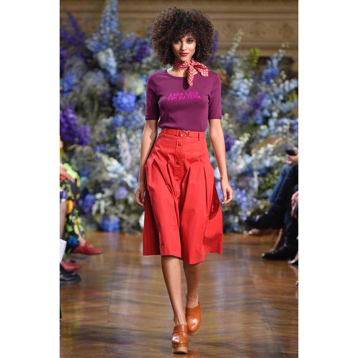 Vanessa Seward. #skirt #necktie #fashion #runway #Vogue #VogueRussia #readytowear #rtw #springsummer2017 #VanessaSeward #VogueCollections