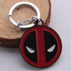 Trendy Marvel Deadpool Symbol Alloy Keyring (RED) | Sammydress.com Mobile