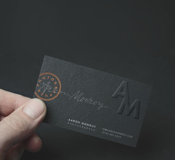 Aaron Monroy Photography Business Card Design by Emmy de Leon Jones
