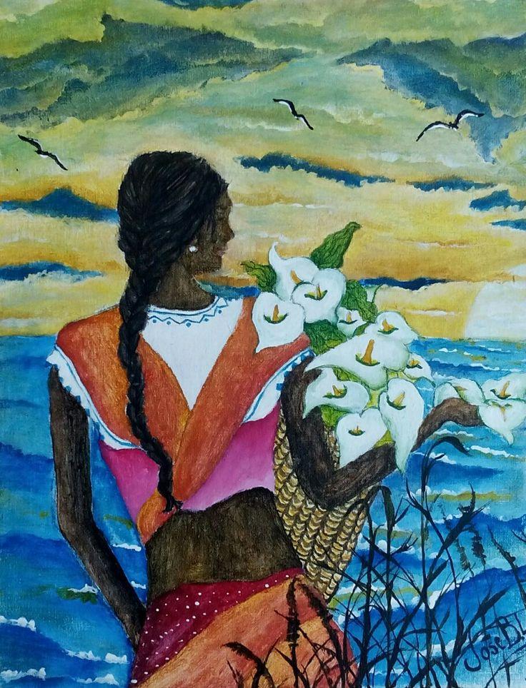 """ Sun Rising "" Acrylic on canvas 30x22 cm Author: José M. Blanco Lorenzo"