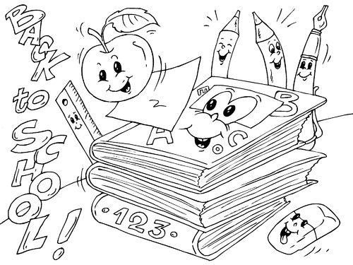 lots of back to school coloring pages
