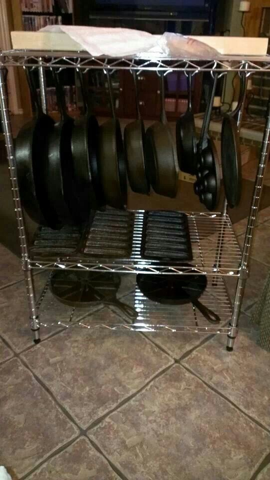 Cast Iron Storage Image Only Cooking Kitchen Tips
