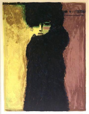Figuratief: herkenbare voorstelling La Dame en Noir - Art collection by Kees van Dongen