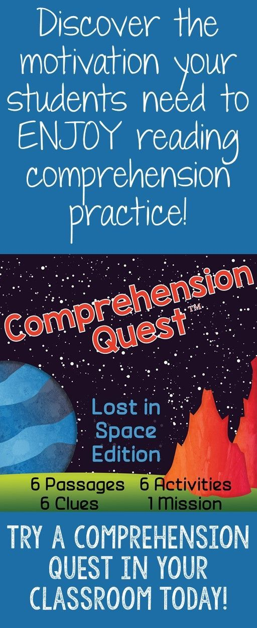 Engage your students with reading comprehension practice with a Comprehension Quest™️