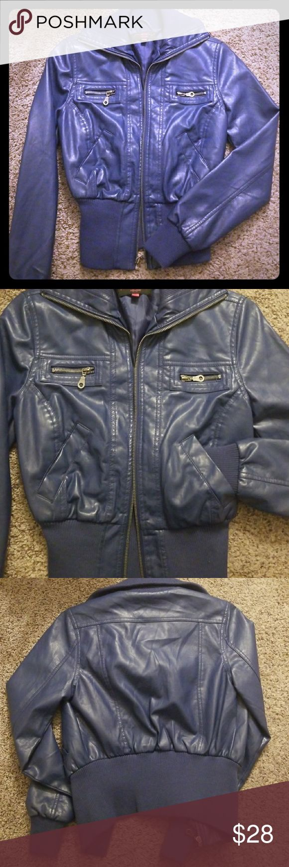 """Nwot purple """"leather"""" jacket Awesome purple leather like jacket! Never worn and ready for your fall wardrobe! New Look Jackets & Coats"""