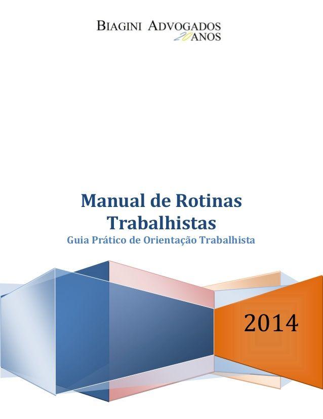 Rotinas trabalhistas 2014