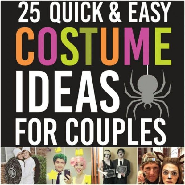 25 quick and easy Halloween costume ideas for couples that can be thrown together in 30 minutes or less! For a quick costume - look no further!