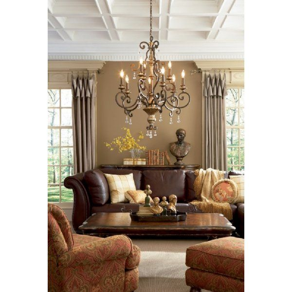 MARQUETTE large 9 light French heirloom finish chandelier
