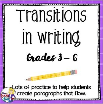 teaching transitions in writing Writing handouts and worksheets sentence sentences – four types subject  following verb subject and  transitions transition words/using transitions.