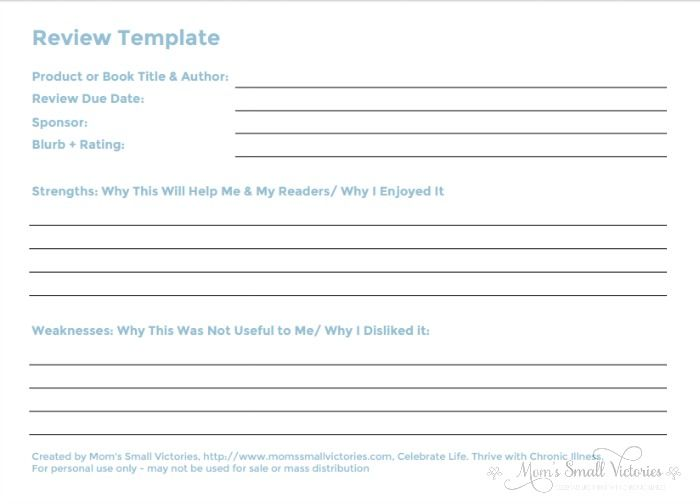 Review Template from the FREE 2017 Blog Planner that includes 36 customizable worksheets to keep track of your editorial calendar, to do's, social media promotion, checklists, passwords, income/expense tracker and more!