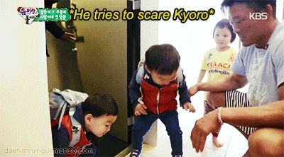 Manse scaring Kyoro | The Return of Superman