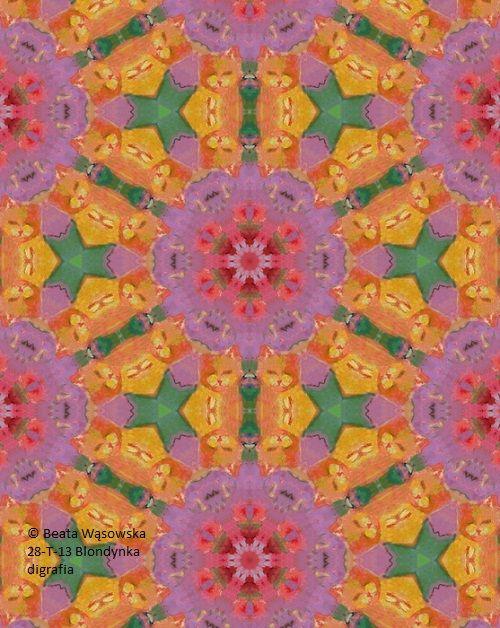 Pattern design_Blondynka, nr kat. 28-T-13, digrafia, Beata Wąsowska